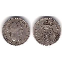 Isabel II. 1859. 1 Real (MBC-) (Plata) Ceca de Madrid