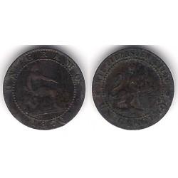 Gobierno Provisional. 1870. 1 Céntimo (MBC-) Ceca de Barcelona OM