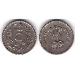 (154.1) India. 1999. 5 Rupees (MBC)