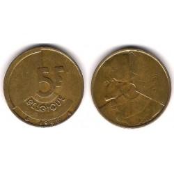 (163) Bélgica. 1986. 5 Francs (MBC)