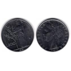 (96.1) Italia. 1981(R). 100 Lira (MBC)