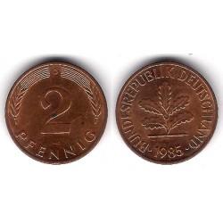 (106a) Alemania. 1985(D). 2 Pfennig (MBC)