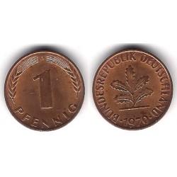 (105) Alemania. 1970(D). 1 Pfennig (EBC)
