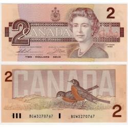 (94b) Canadá. 1986. 2 Dollars (SC)