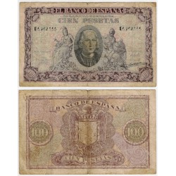 Estado Español. 1940. 100 Pesetas (BC) Serie G. Leves roturas