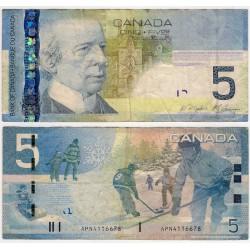 (101Ab) Canadá. 2008. 5 Dollar (MBC)