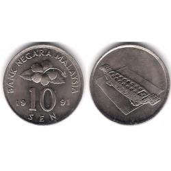 (51) Malasia. 1991. 10 Sen (SC)