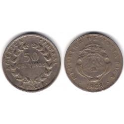 (189.3) Costa Rica. 1968. 50 Céntimos (MBC)