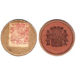 España (II República). 1937. 15 Céntimos (RC)