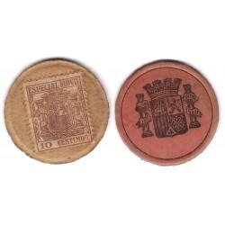 España (II República). 1937. 10 Céntimos (MBC)