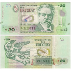 (93) Uruguay. 2015. 20 Pesos (SC)