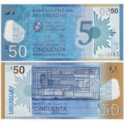 (100) Uruguay. 2017. 50 Pesos (SC)