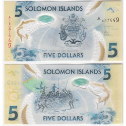 Islas Salomón. 2019. 5 Dollars (SC)