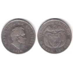 (193.2) Colombia. 1916. 50 Centavos (MBC) (Plata)