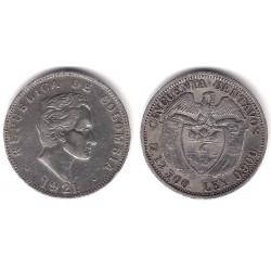 (193.2) Colombia. 1921. 50 Centavos (EBC-) (Plata)