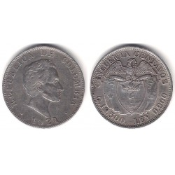 (193.2) Colombia. 1921. 50 Centavos (MBC) (Plata)
