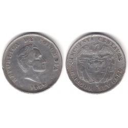 (193.1) Colombia. 1932B. 50 Centavos (BC+) (Plata)