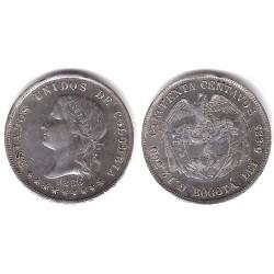 (177.1) Colombia. 1883. 50 Centavos (EBC) (Plata)