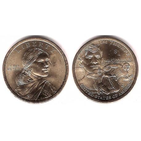 Estados Unidos de América. 2018(P). 1 Dollar (SC) Nativo. Jim Thorpe