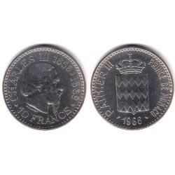 (146) Mónaco. 1966. 10 Francs (SC) (Plata)