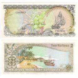 (15) Maldivas. 1990. 2 Rufiyaa (SC)