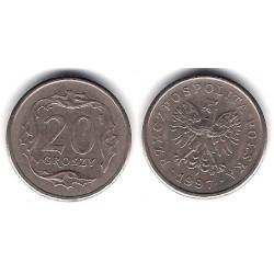 (Y281) Polonia. 1997. 20 Groszy (MBC)