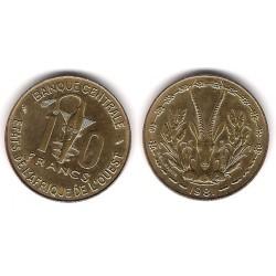 (1a) Estados África Oeste. 1981. 10 Francs (SC)