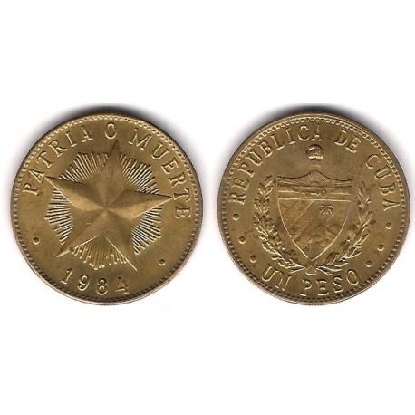 (105) Cuba. 1984. 1 Peso (EBC)