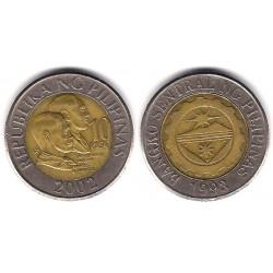 (278) Filipinas. 2002. 10 Piso (MBC)