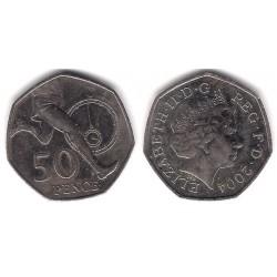 (1047) Gran Bretaña. 2004. 50 Pence (MBC)