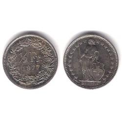 (23a.1) Suiza. 1977. ½ Franc (MBC+)