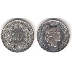 (27) Suiza. 1981. 10 Rappen (EBC)