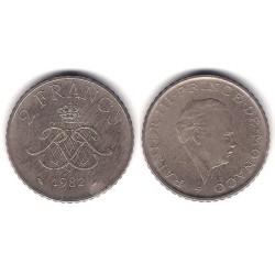 (157) Mónaco. 1982. 2 Francs (BC)