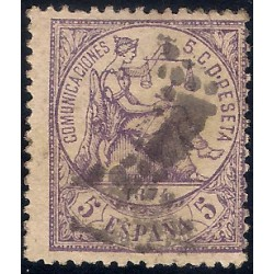 (144) 1874. 5 Céntimos. Alegoría de la Justicia (Usado)