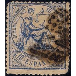 (145) 1874. 10 Céntimos. Alegoría de la Justicia (Usado)