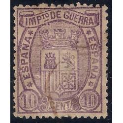 (155) 1875. 10 Céntimos. Escudo de España (Usado)