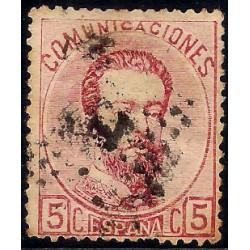 (118) 1873. 5 Céntimos. Amadeo I (Usado)