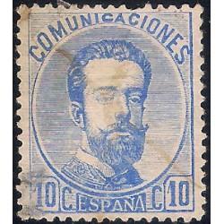 (121) 1873. 10 Céntimos. Amadeo I (Usado)