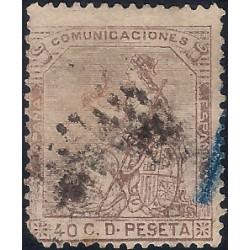 (136) 1873. 40 Céntimos. Alegoría de España (Usado)