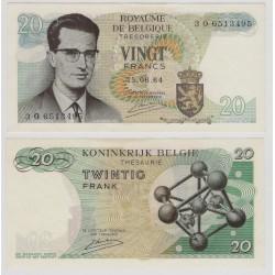 (138) Bélgica. 1964. 20 Francs (SC)