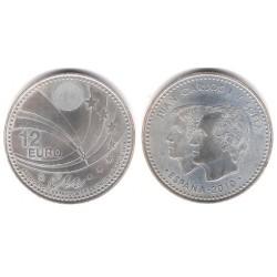 España. 2010. 12 Euro (SC) (Plata)