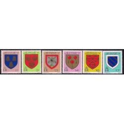 Jersey. 1981-83. Serie de 6 Valores. Heráldica (Nuevo)