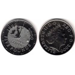 (1006) Gran Bretaña. 2000. 5 Pounds (SC)