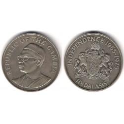 (16) Gambia. 1975. 10 Dinars (EBC+)