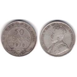 (12) Terranova y Labrador. 1918C. 50 Cents (BC+) (Plata)