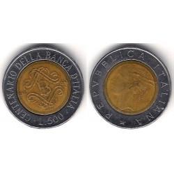 (160) Italia. 1993(R). 500 Lira (BC)