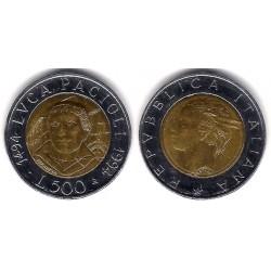 (167) Italia. 1994(R). 500 Lira (EBC)