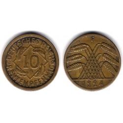 (40) Imperio Alemán (Weimar). 1924(F). 10 Pfennig (MBC)