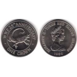 (64) Islas Turcas y Caicos. 1988. 1 Crown (SC)