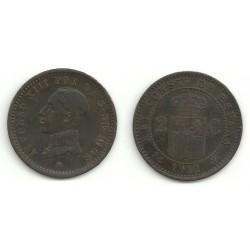 Alfonso XIII. 1912*(12). 2 Céntimos (MBC) Ceca de Madrid PC-V